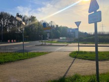 Kreisel am neuen Amazon-Logistikzentrum in Garbsen